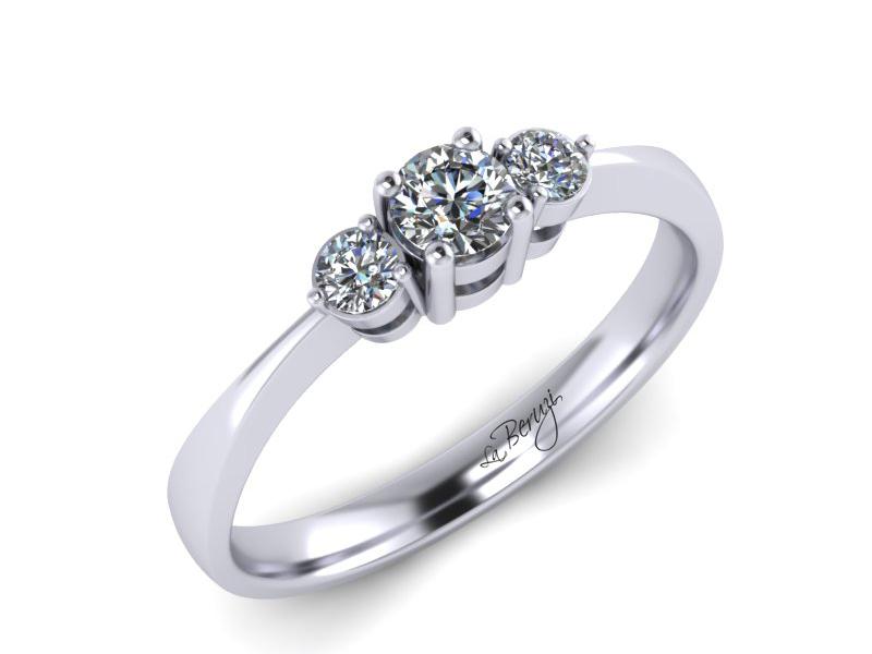 Inel de logodna din aur alb 14K cu diamant de 0,19 ct - MDA018d V1 LA Beruzi