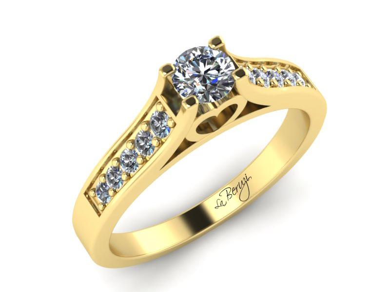 Inel de logodna din aur alb 14K cu diamante de 0,31 ct -MDA032d V3