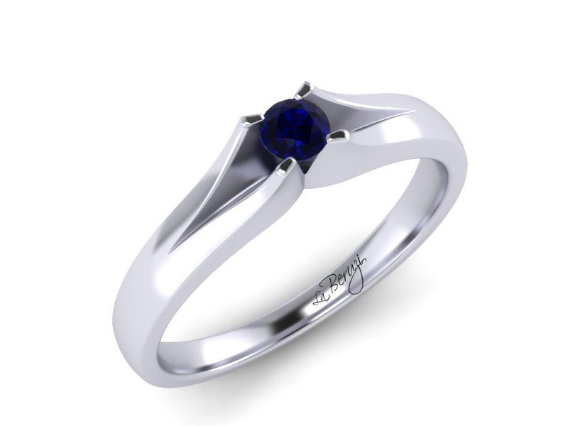 Inel de logodna din aur alb 14K cu Pietre semipretioase MDS049d