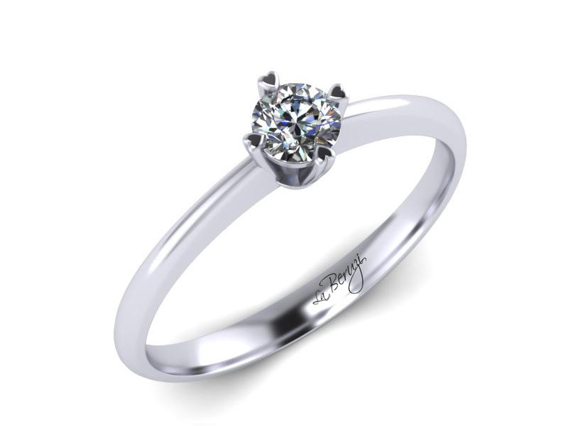 Inel de logodna din aur alb 14K cu diamant de 0,25 ct - MDA061d V2 LA Beruzi