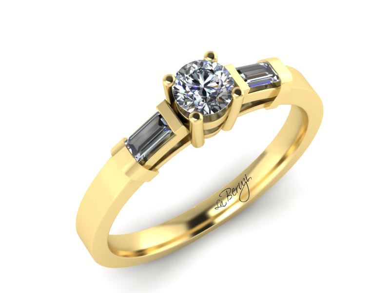 Inel de logodna din aur galben 14K cu diamante de 0,31 ct - MDA067 V3