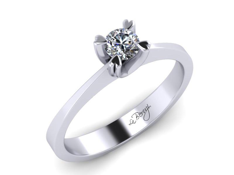 Inel de logodna din aur alb 14K cu diamant de 0,15 ct - MDA007 V1