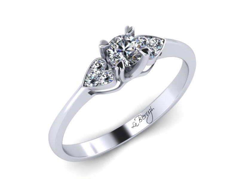 Inel de logodna aur 14K cu diamante de 0,26  ct- MDA008 V2