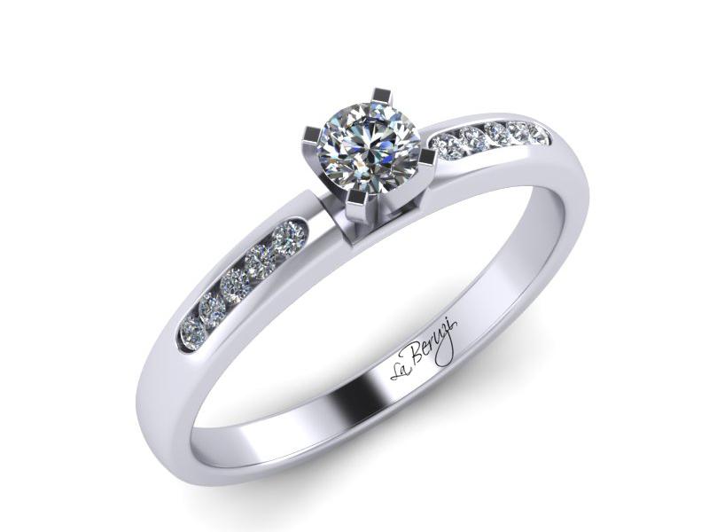 Inel de logodna din aur alb 14K cu diamante de 0,25 ct - MDA014 V2