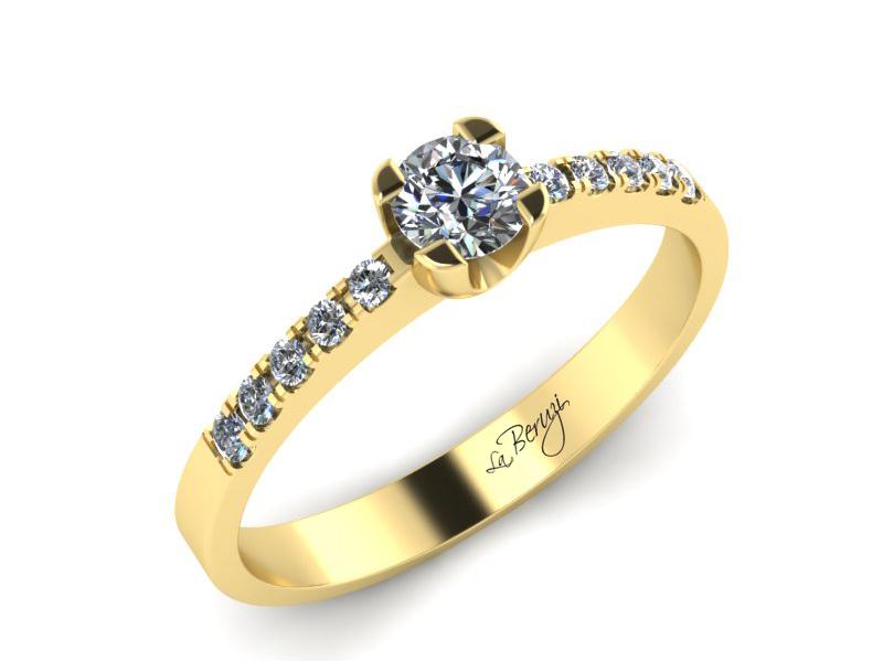 Inel de logodna din aur galben 14K cu diamante de 0,32 ct - MDA002 V3