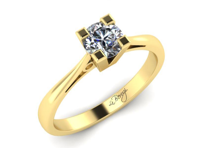 Inel de logodna din aur galben 14K cu diamant de 0,20 ct - MDA021 V3