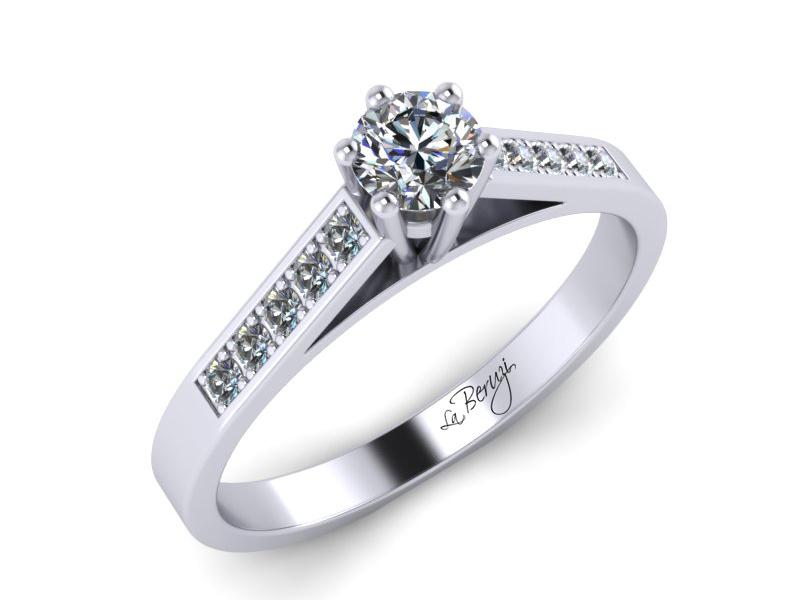 Inel de logodna din aur alb 14K cu diamante de 0,27 ct  - MDA026 V2