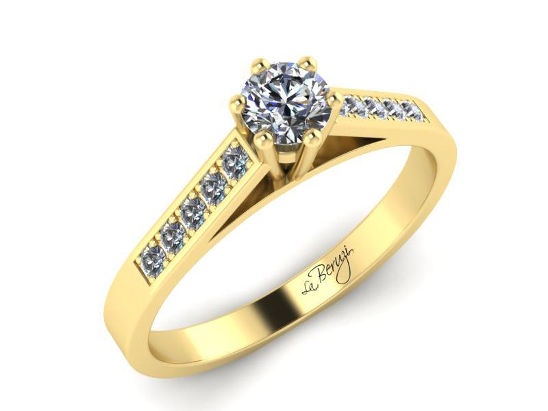 Inel de logodna din aur galben 14K cu diamante de 0,32 ct  - MDA026 V3
