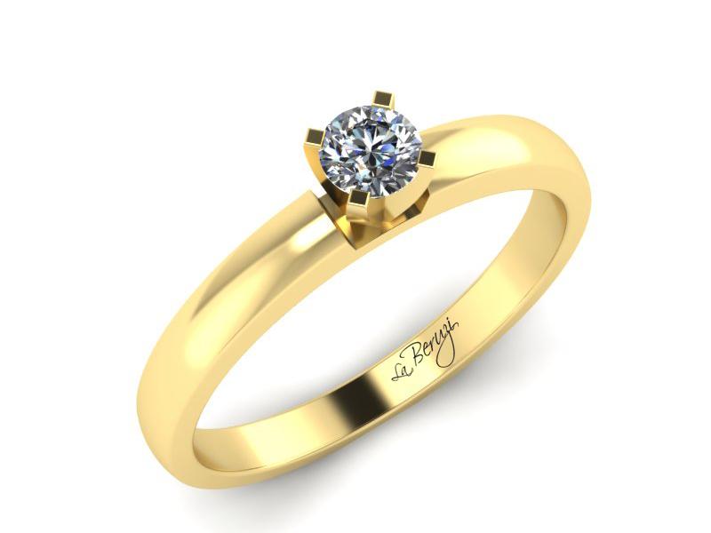 Inel de logodna din aur alb 14K cu diamant de 0,15 ct - MDA041 V3