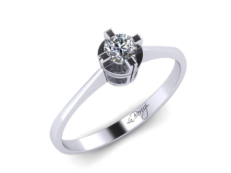 Inel de logodna aur alb 14K 1 x diamant de 0,20 ct MDA004 V1