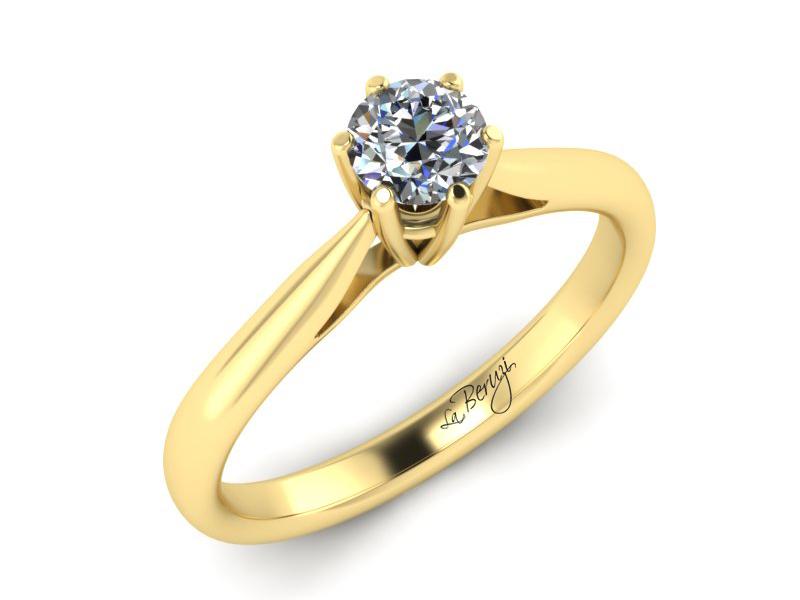 Inel de logodna din aur galben 14K cu diamant de 0,20 ct - MDA023 V3
