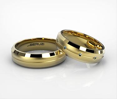 Verighete din aur galben de 14k SS 097v