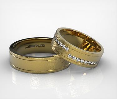 Verighete din aur galben de 14k ss183