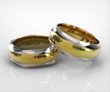 Verighete din aur de 14k alb si galben SS 017