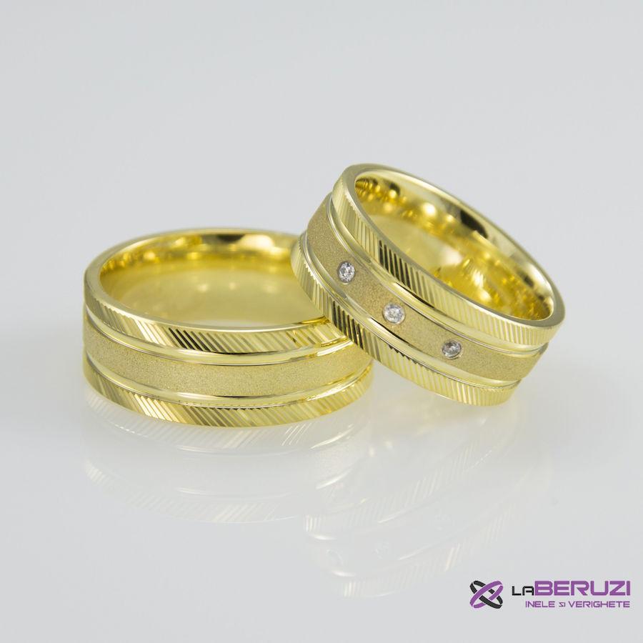 Verighete din aur de 14k SS 334