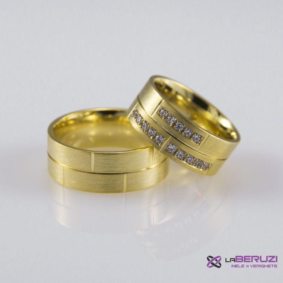Verighete din aur de 14k SS