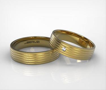 Verighete din aur galben de 14k SS 089