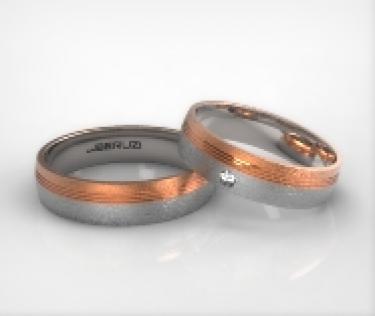 Verighete din aur de 14k alb si roz SS 022