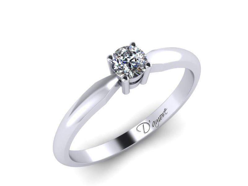 Inel de logodna din aur alb 14K cu diamant de 0,20 ct - MDA025 V2