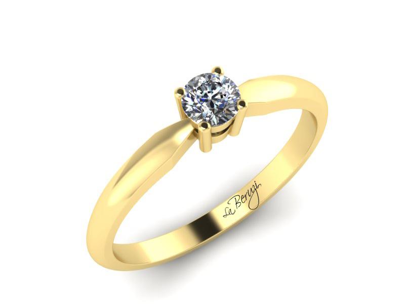Inel de logodna din aur galben 14K cu diamant de 0,25 ct - MDA063d v3 LA Beruzi