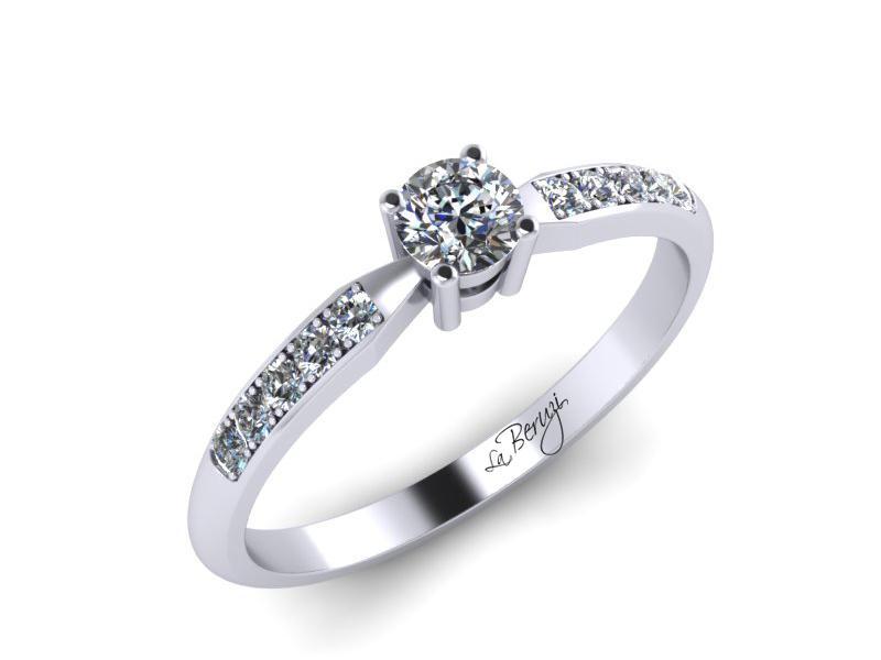 Inel de logodna din aur alb 14K cu diamante de 0,24 ct - MDA046