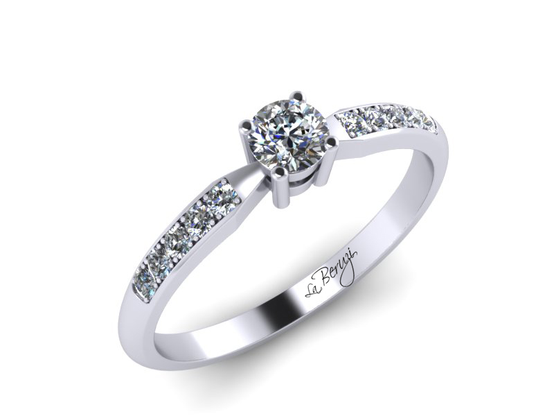 Inel de logodna din aur alb 14K cu diamante de 0,32 ct - MDA046 V2