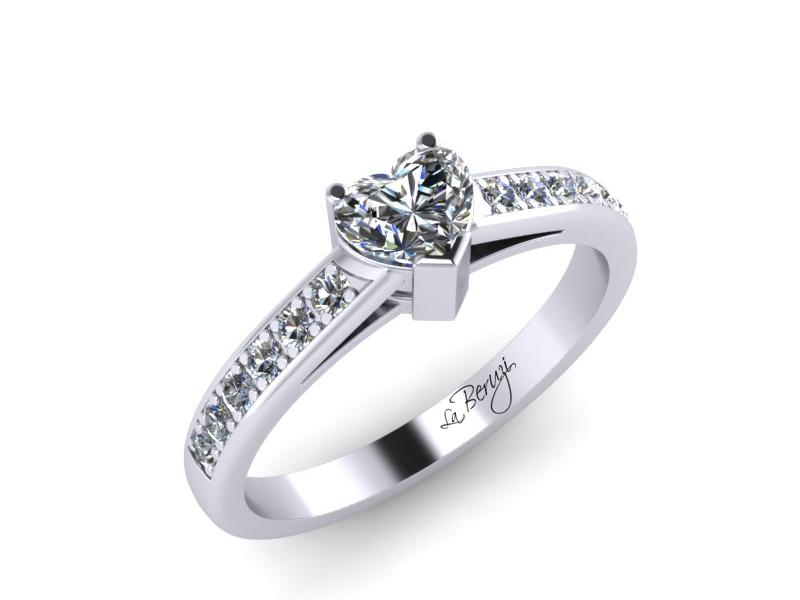 Inel de logodna din aur alb 14K cu diamante de 0,15 ct - MDA005