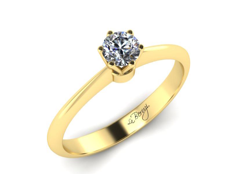 Inel de logodna din aur galben 14K cu diamant de 0,25 ct - MDA027 V3