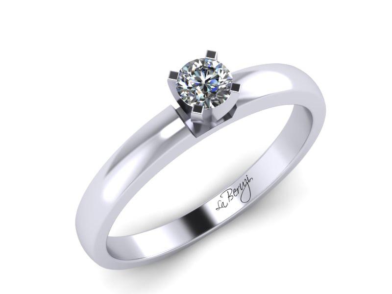 Inel de logodna din aur alb 14K cu diamant de 0,08 ct - MDA041