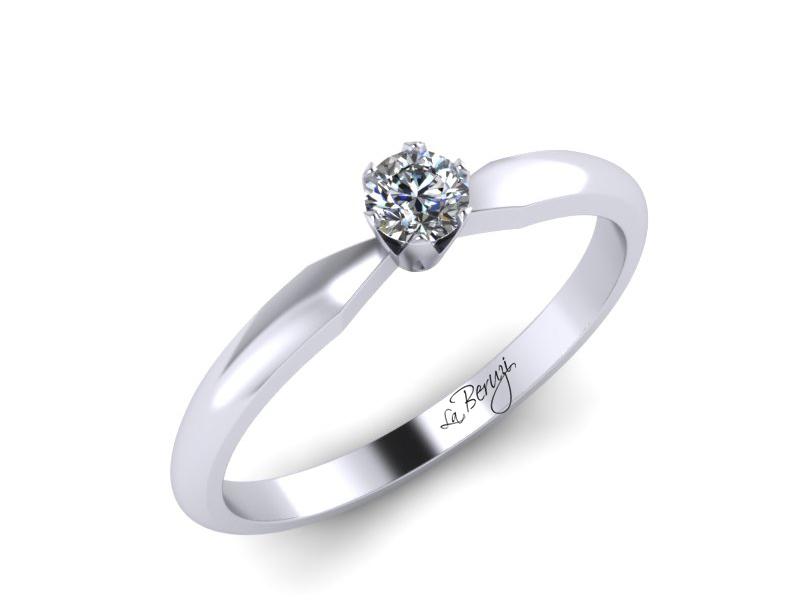 Inel de logodna din aur alb 14K cu diamant de 0,10 ct - MDA042 V1