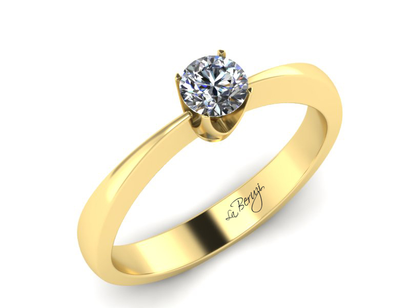 Inel de logodna din aur galben 14K cu diamant de 0,20 ct - MDA010 V3