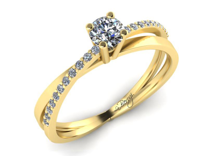 Inel de logodna din aur galben 14K cu diamante 0,30 ct - MDA016 V3