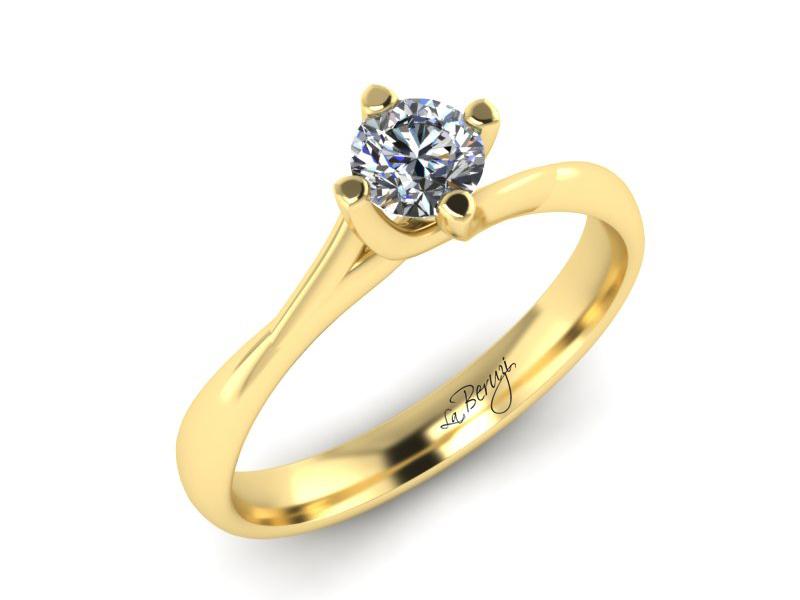 Inel de logodna din aur galben 14K cu diamant de 0,20 ct - MDA033 V3