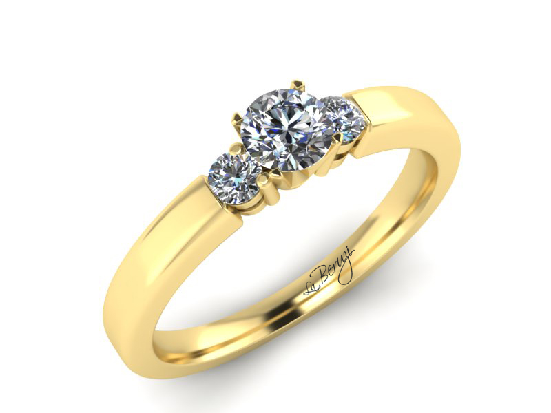 Inel de logodna aur galben 14K cu diamante de 0,28 ct- MDA037 V3