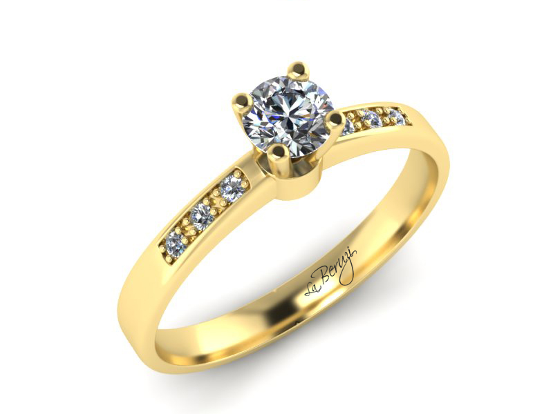Inel de logodna din aur Galben 14K cu diamante de 0,20 ct - MDA022 V3