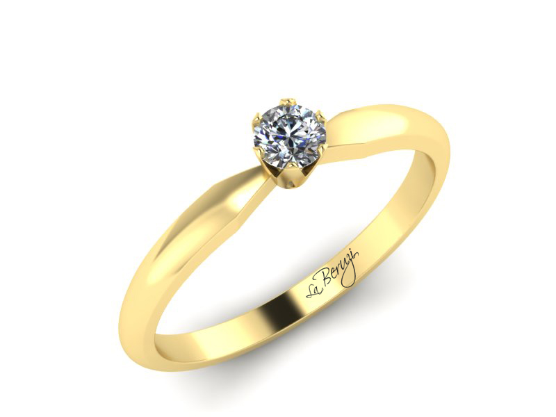 Inel de logodna din aur alb 14K cu diamant de 0,10 ct - MDA042 V3