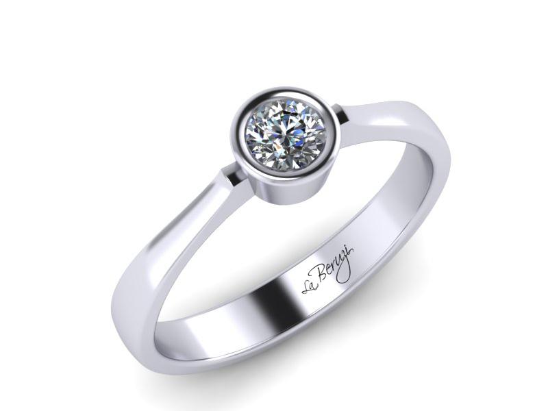Inel de logodna din aur alb 14K cu Diamant de 0,10 ct - MDA044