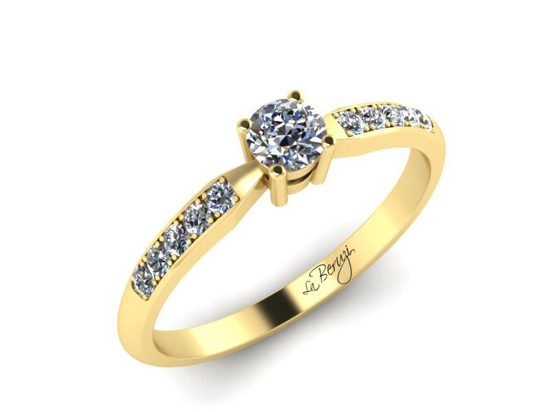 Inel de logodna din aur galben 14K cu diamante de 0,24 ct - MDA046 V3