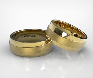 Verighete din aur galben de 14k SS 053v