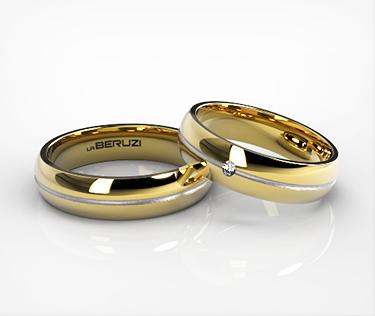 Verighete din aur de 14k alb si galben SS 043v