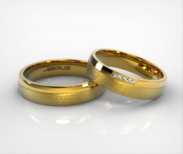 Verighete din aur galben de 14k SS 035