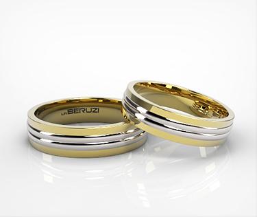Verighete din aur de 14k alb si galben SS 145