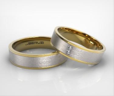 Verighete din aur de 14k alb si galben SS 039