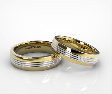 Verighete din aur de 14k alb si galben SS 123v