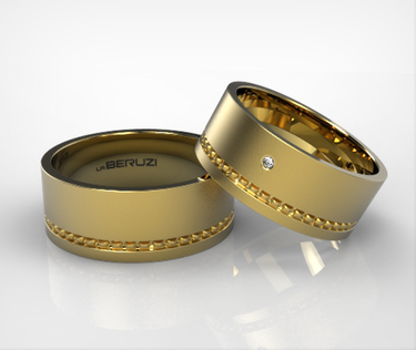 Verighete din aur galben de 14k SS 096v