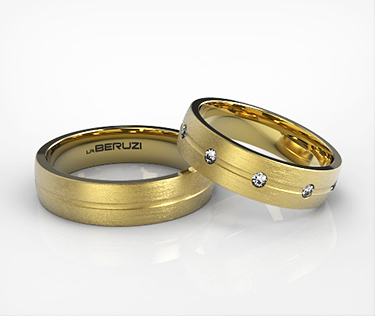 Verighete din aur galben de 14k SS 018v