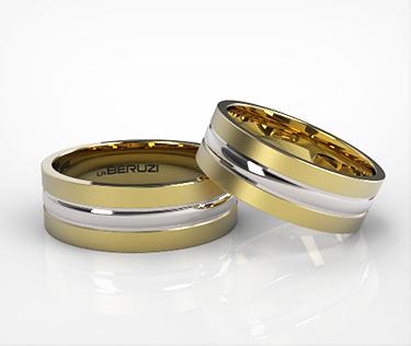 Verighete din aur de 14k alb si galben SS 147