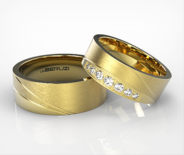 Verighete din aur galben de 14k SS 052v