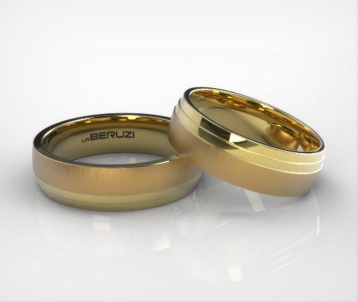 Verighete din aur galben de 14k SS 064